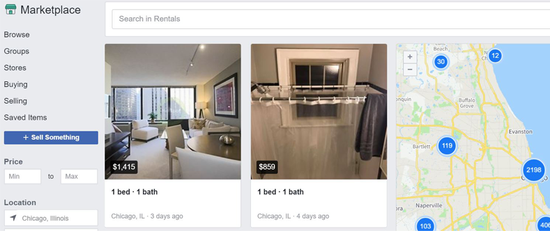 Advertise your property on Facebook marketplace